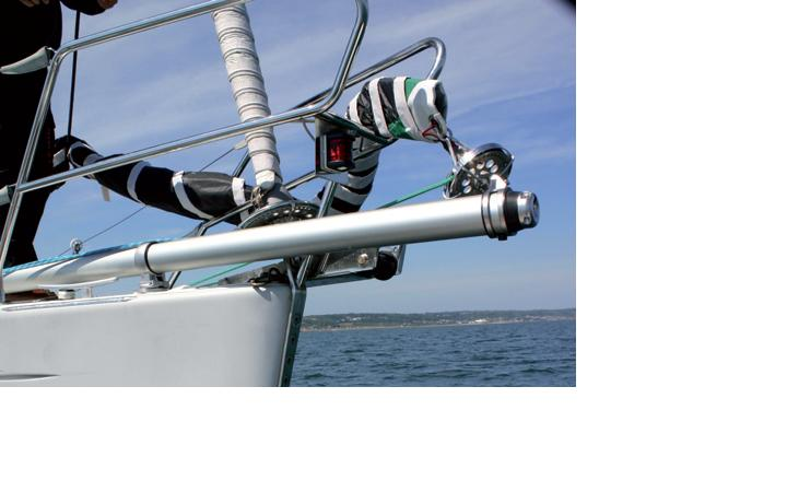 Sparcraft Bowsprit kit installed on Sailboat
